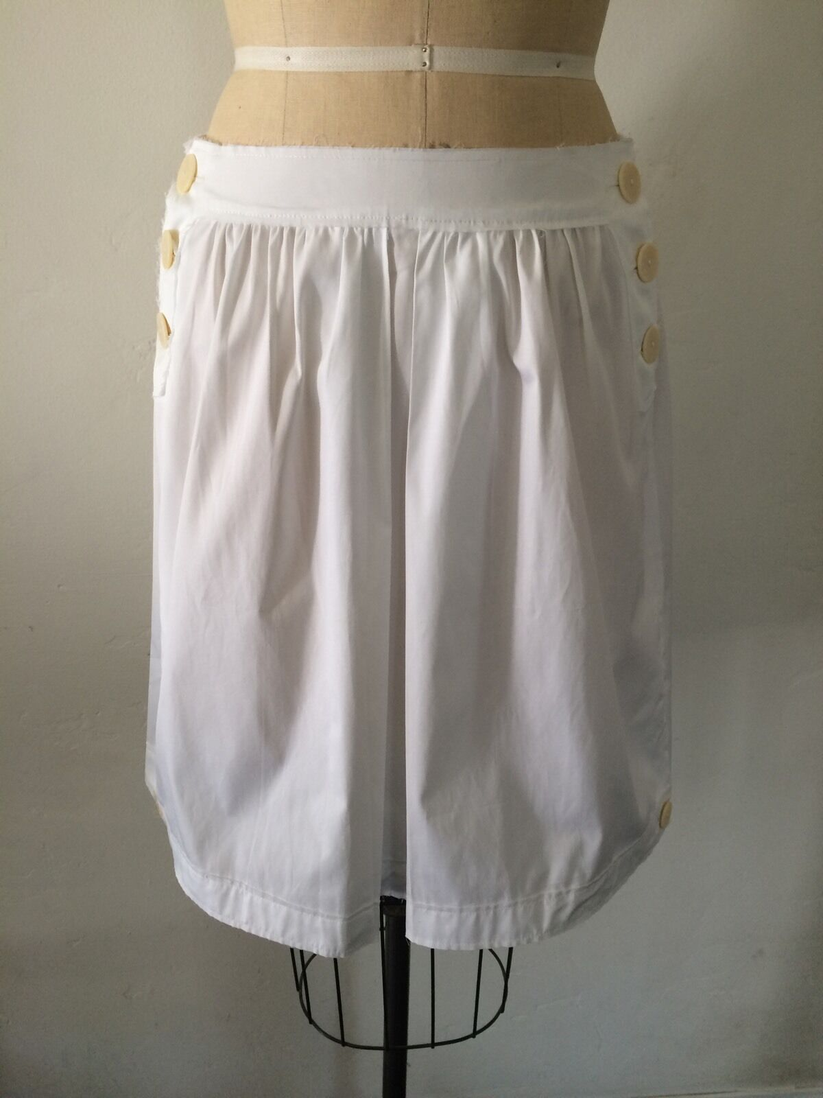 Philosophy di Alberta Ferretti White Cotton Midi Skirt Sz 6