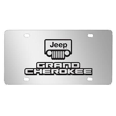 Jeep Grand Cherokee Metal License Plate Frame Matte Gray Finish