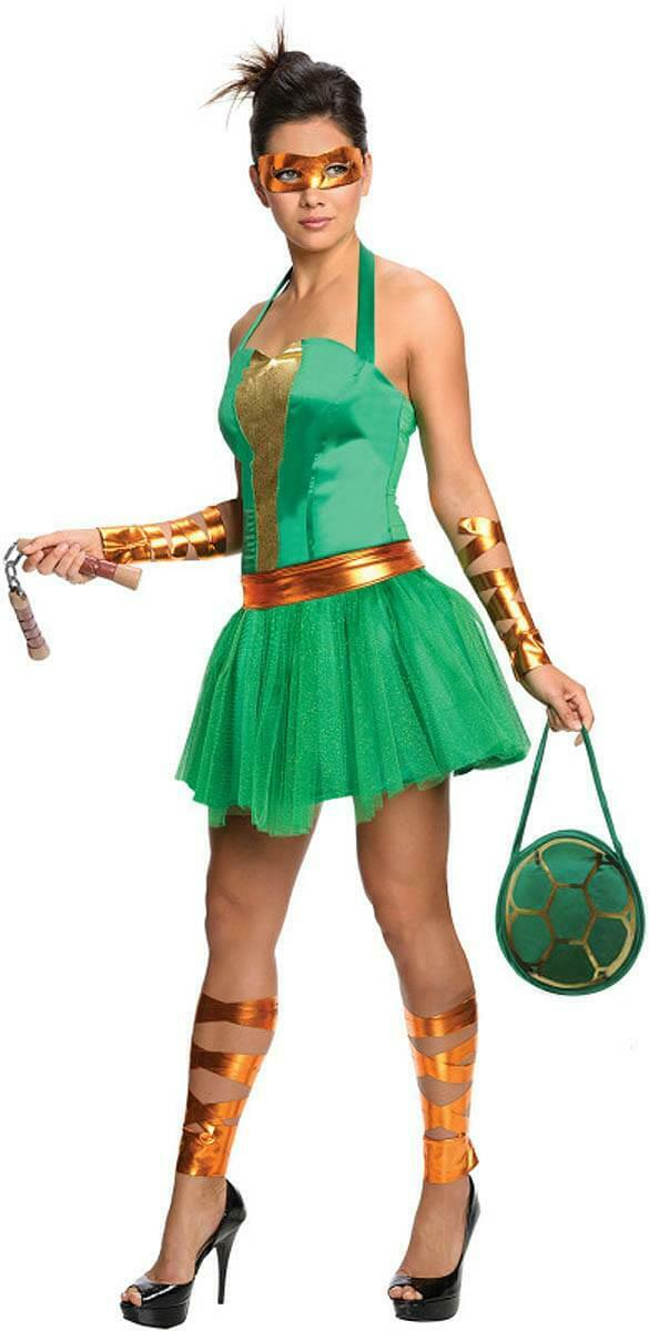 T.M.N.T. Female Michelangelo Costume Adult Small