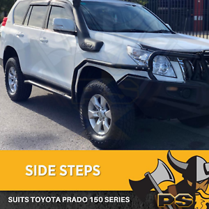 Details about Heavy Duty Side Steps, Brush Rail Bars to suit Toyota Prado  150 Series 2009-2016