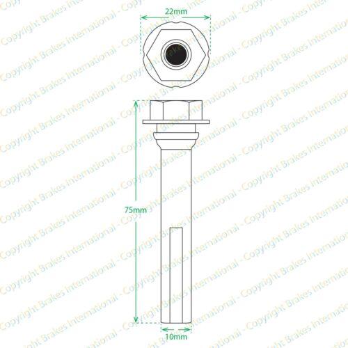 2013 - Mercedes CLA classe 117 BCF1481FX2 2x Front Caliper Slider PIN Kits Compatible avec