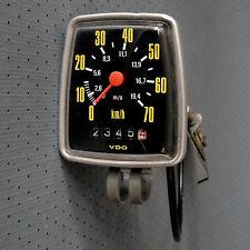 alter VDO Fahrradtachometer mit Schnecke und Welle aus dem Jahre 1982, km-Stand