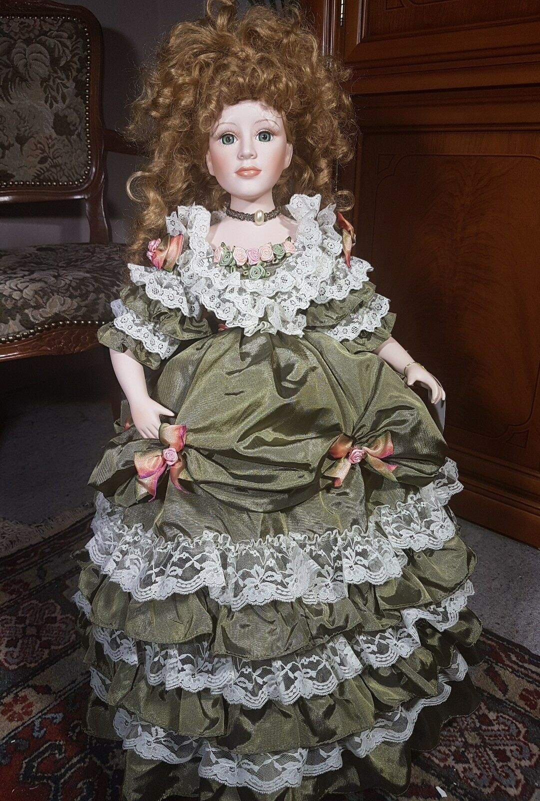 Künstlerpuppen Porzellanpuppe Porzellanpuppe Porzellanpuppe von Court of Dolls ca.70 cm 8d757e