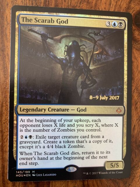 MTG Magic - (M) Hour of Devastation - FOIL PR - The Scarab God - NM