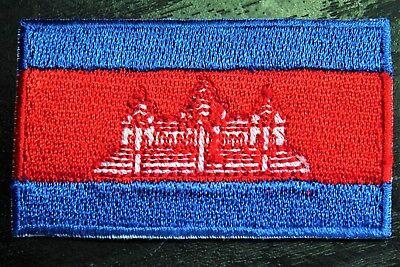 CAMBODIA Cambodian Khmer Metal Flag Lapel Pin Badge *NEW*
