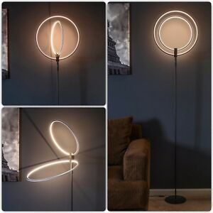 Dual rings decorative floor lamp modern futuristic glowing led image is loading dual rings decorative floor lamp modern futuristic glowing mozeypictures Images