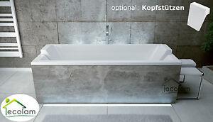 Rechteckwanne Rechteck Badewanne Wanne CONTINEA 150x70 Füße Ablauf