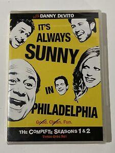Its-Always-Sunny-in-Philadelphia-Seasons-1-2-DVD-2009-3-Disc-Set-NEW-SEALED
