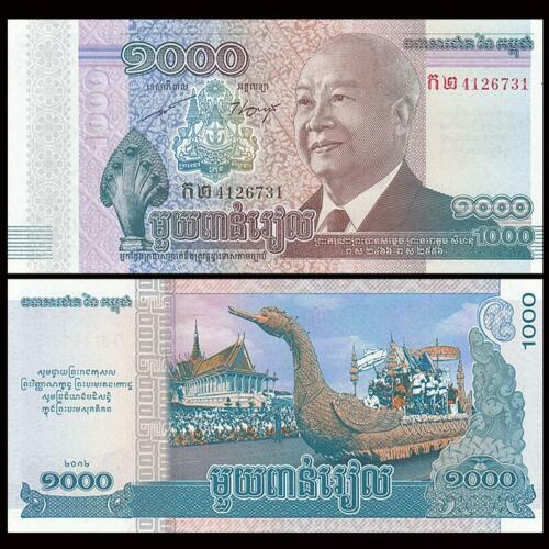 P-63 Full bundle Lot 100 PCS COMM 2013 Cambodia 1000 Riels 2012 UNC
