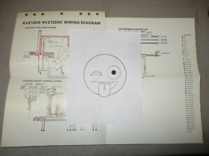 yamaha xvz13 ds 1987 colored wiring diagram stereo receiver wiring diagram yamaha 1300 wiring diagram #15