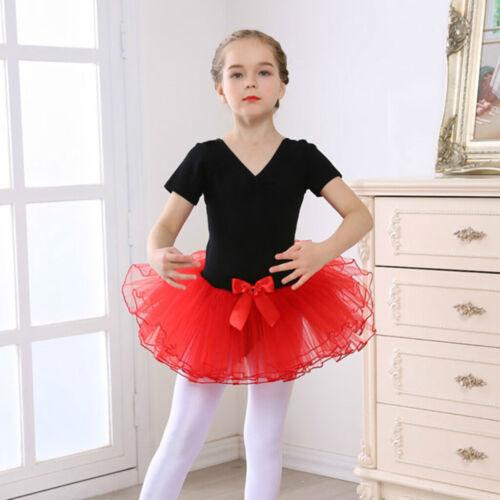 Mädchen Kleinkinder Tutu Trikot Ballett Tanzen Rock V-Neck Dancewear