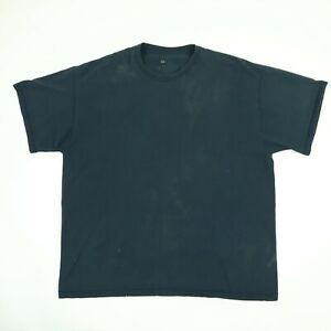 Faded-Black-Blank-Fruit-of-the-Loom-T-Shirt-2XL-Grunge-Goth-Skate-Punk-Biker