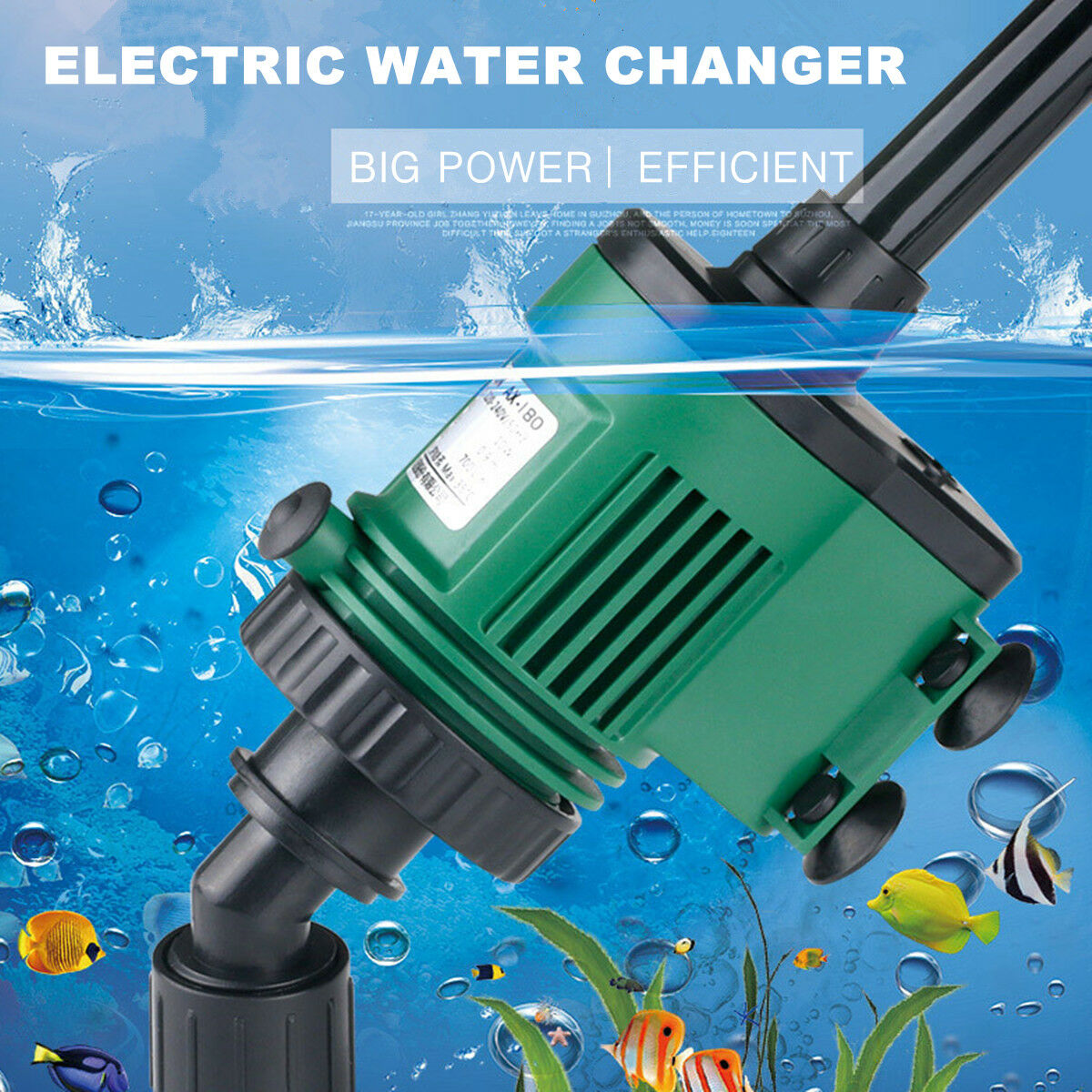 Electronic Aquarium Gravel Fish Tank Manure Sand Cleaner Water Changer Cleaning