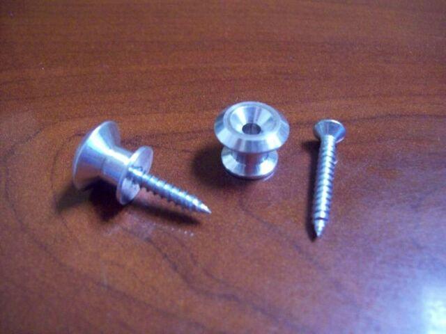 Dunlop Standard Raw Aluminum Strap Buttons for Guitar//Bass 71000SI