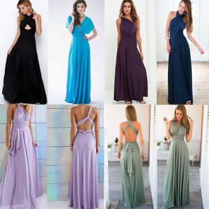 popular design quality first 2019 factory price Details about Women's Evening Dress Convertible Multi Way Wrap Bridesmaid  Formal Long Dresses