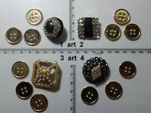 1-lotto-bottoni-gioiello-strass-smalti-perle-vetro-buttons-boutons-vintage-g8