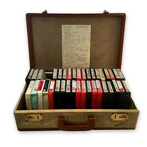 8-Track-Tapes-Lot-of-36-An-Old-Suitcase-Full-of-Home-Recorded-Polka-Music