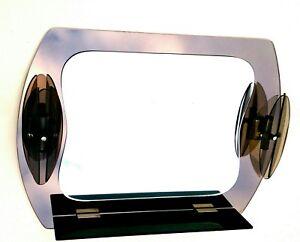 Specchio bicolore fontana arte originale anni con applique e