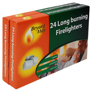 Firelighters-Bryant-amp-May-double-pack-of-48-Long-Burning-Home-Fire-Warm-Heat