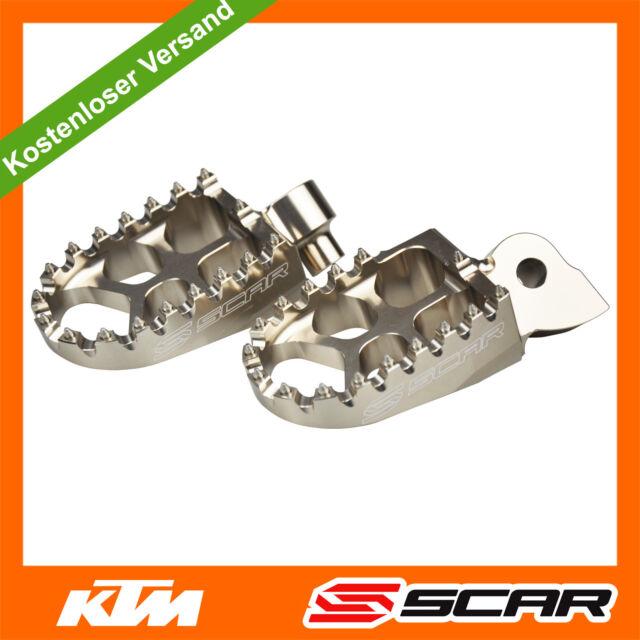 Fußrasten FUSSRASTEN KTM SX SXF EXC EXC-F 50 65 150 250 350 450 98-15 TITAN SCAR