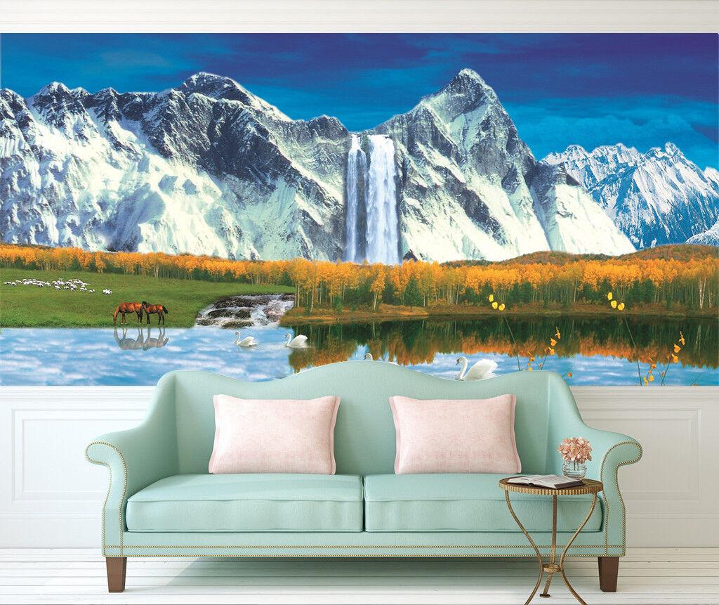 3D Waterfall 472 Wallpaper Murals Wall Print Wallpaper Mural AJ WALL AU Kyra