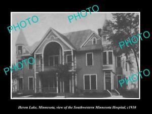 OLD-LARGE-HISTORIC-PHOTO-OF-HERON-LAKE-MINNESOTA-THE-S-W-HOSPITAL-c1910