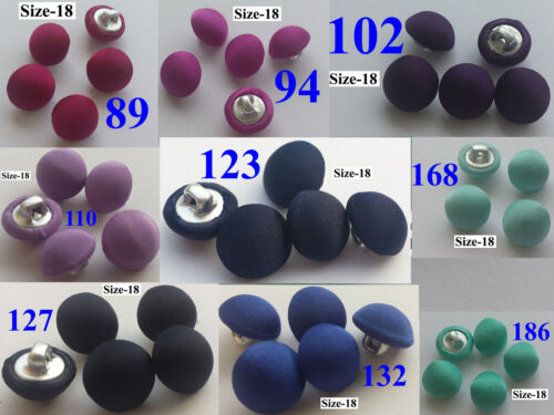 10 SILK CHARMEUSE FABRIC COVERED BUTTONS BRIDAL BUTTONS HANDMADE Size18//11mm