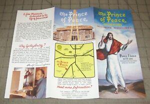 Vintage-1970s-PRINCE-OF-PEACE-Jesus-Fold-Out-Brochure-Gettysburg-PA
