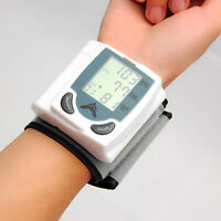Digital LCD Wrist Cuff Arm Blood Pressure Monitor Heart Beat Meter Machine Gauge