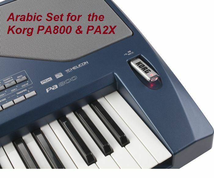 Arabic Sounds & Styles Set for KORG PA800 a PA2X Keyboards