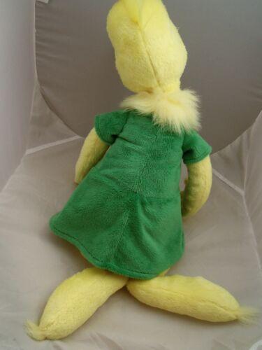 "17/"" Kohl/'s Cares for kids Dr Seuss Plush Girl Yellow Sneetch Green velour dress"