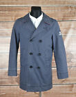 Henri Lloyd Men Jacket Pea Coat Jacket Size S, Genuine