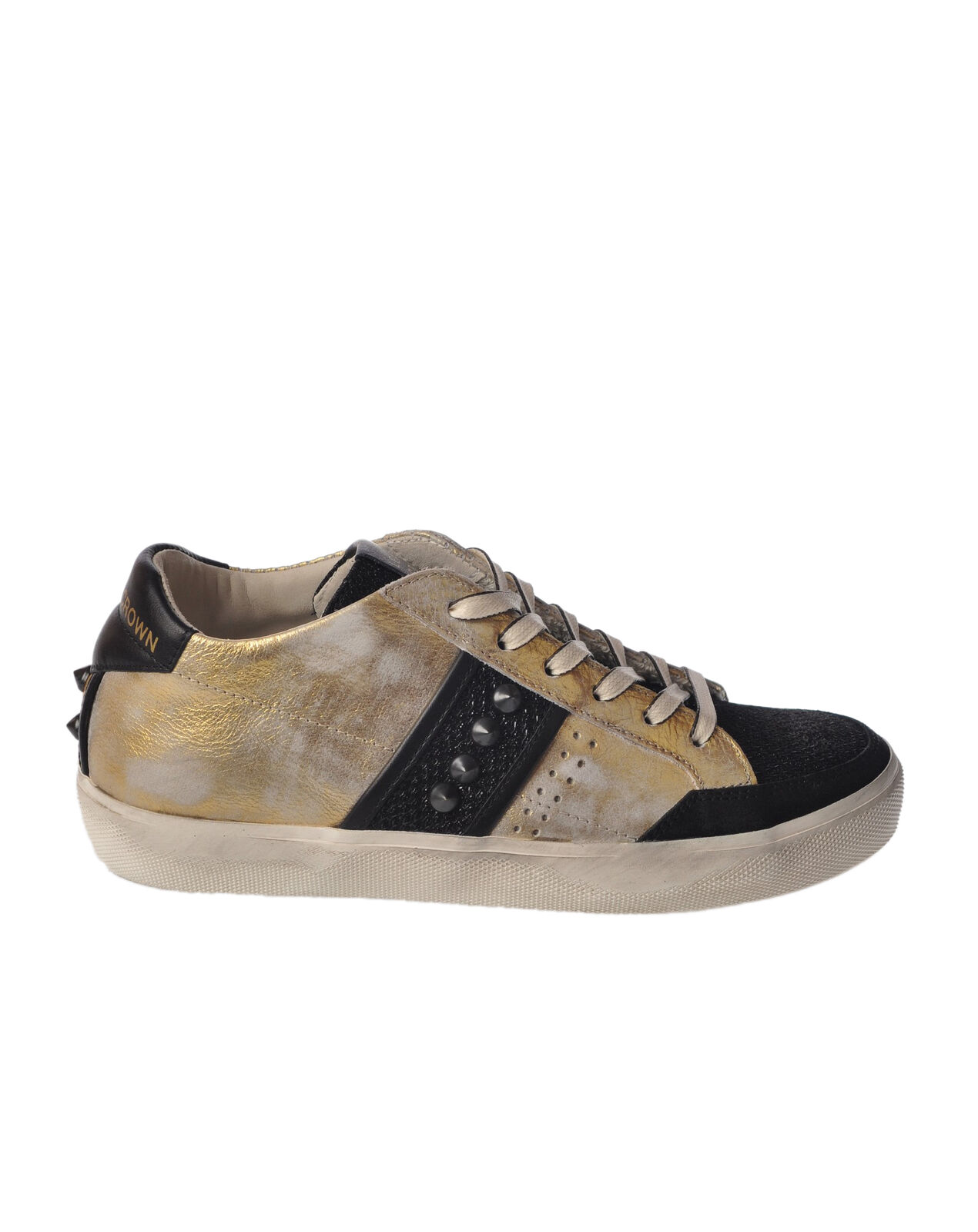 Leather Crown - shoes-Sneakers low - Woman - gold - 4993414H184358