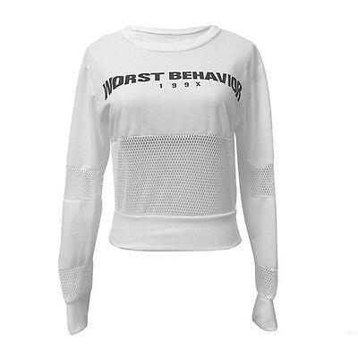 Women Fashion Long Sleeve Hoodie Sweatshirt Casual Coat Pullover Loose Crop Tops
