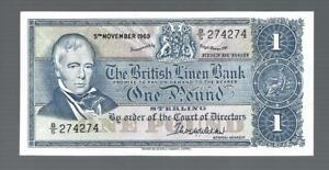 Scotland ✨1969 The British Linen Bank 1 Pound ✨ REPEATER S/N #274 274 ✨ Aunc++