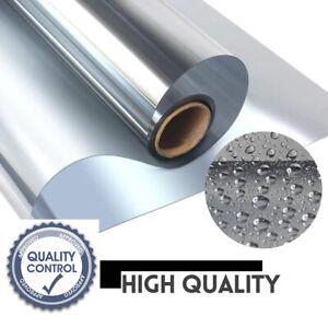 Mirror Foil Silver 85/% Spy Foil Sun Protection Privacy Heat Reduction