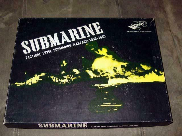 Battleline 1976 - SUBMARINE game  WW2 Tactical Submarine Warfare (1939 - 1945)