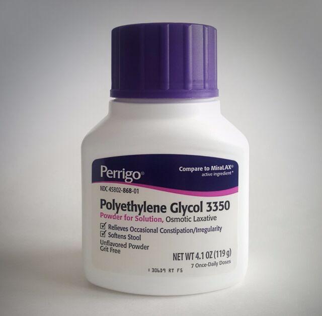 perrigo polyethylene glycol 3350 powder 119 gm ebay