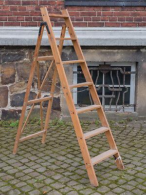 Alte Stabile Leiter Aus Holz Holzleiter,setztreppe Alte Malerleiter Höhe 158 Cm Sonstige