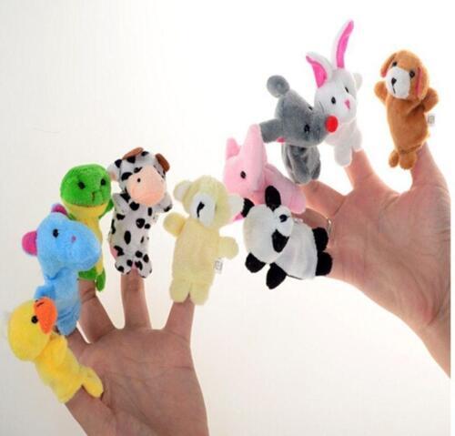 Set of Nursery Plush Hand Puppets Finger Soft Toy Baby Children Kids Gift CB