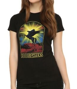 1ed74f9a Foo Fighters PEGASUS Women's Girls T-Shirt NWT Dave Grohl 100 ...