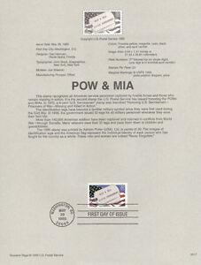 9517-32c-POW-amp-MIA-Stamp-2966-USPS-Souvenir-Page