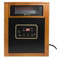 1500w Quartz Infrared Space Heater Wheels Remote Control Lifetime Filter