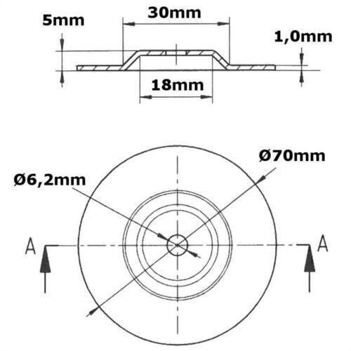 accessoires Fixation Ringkern transformateur Kit montage 70mm-montage accessoires