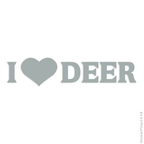 I Heart Love Deer Hunting Decal Sticker Choose Color Size #2294