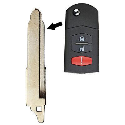 Para Mazda 2 3 4 5 6 8 MX-5 RX-8 CX7 remoto clave flip remoto FOB Hoja de cabeza y