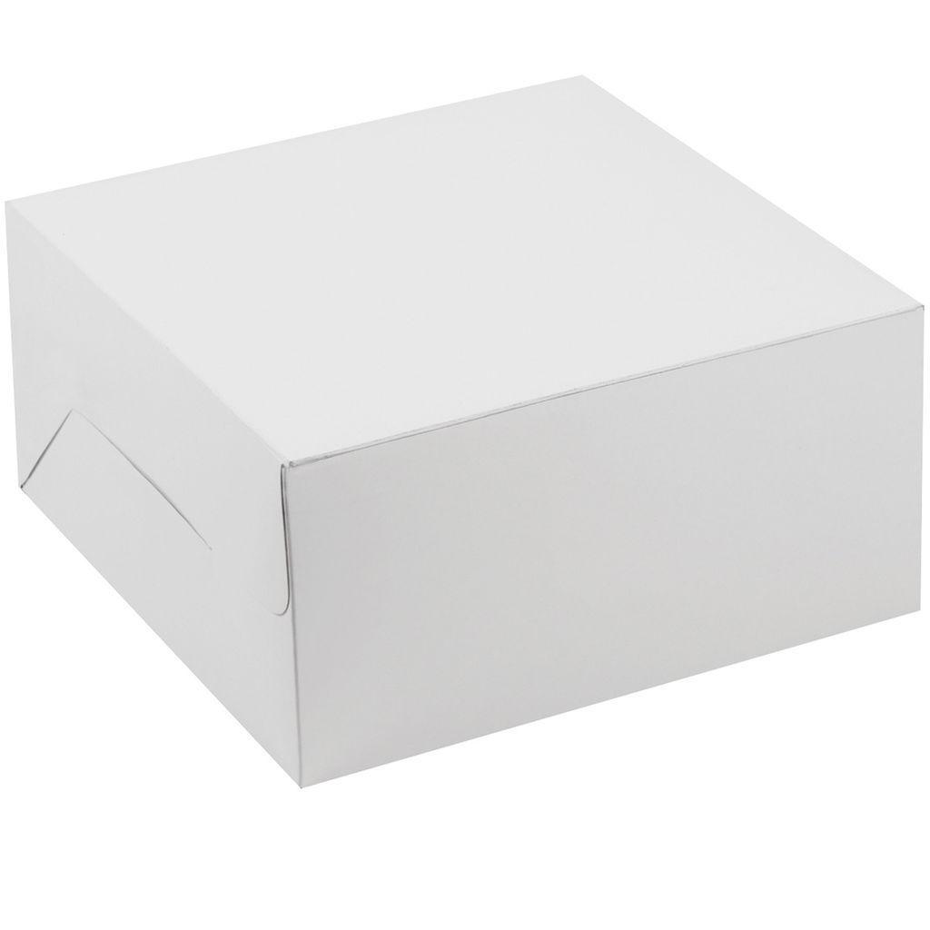 100 X bianca Cake Box with Lids 10 X 10 X 3  for Birthday, Wedding & Christmas