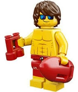 LEGO Minifigures Series 12 Surf Lifeguard Minifig - suit surfboard / beach set