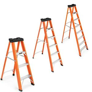 Vonhaus Fibreglass Ladder Heavy Duty Tread En131