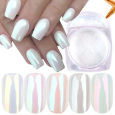 3PCS Pearl Powder Nail Art Glitter Mirror Mermaid Aurora Chrome Pigment Dip Dust